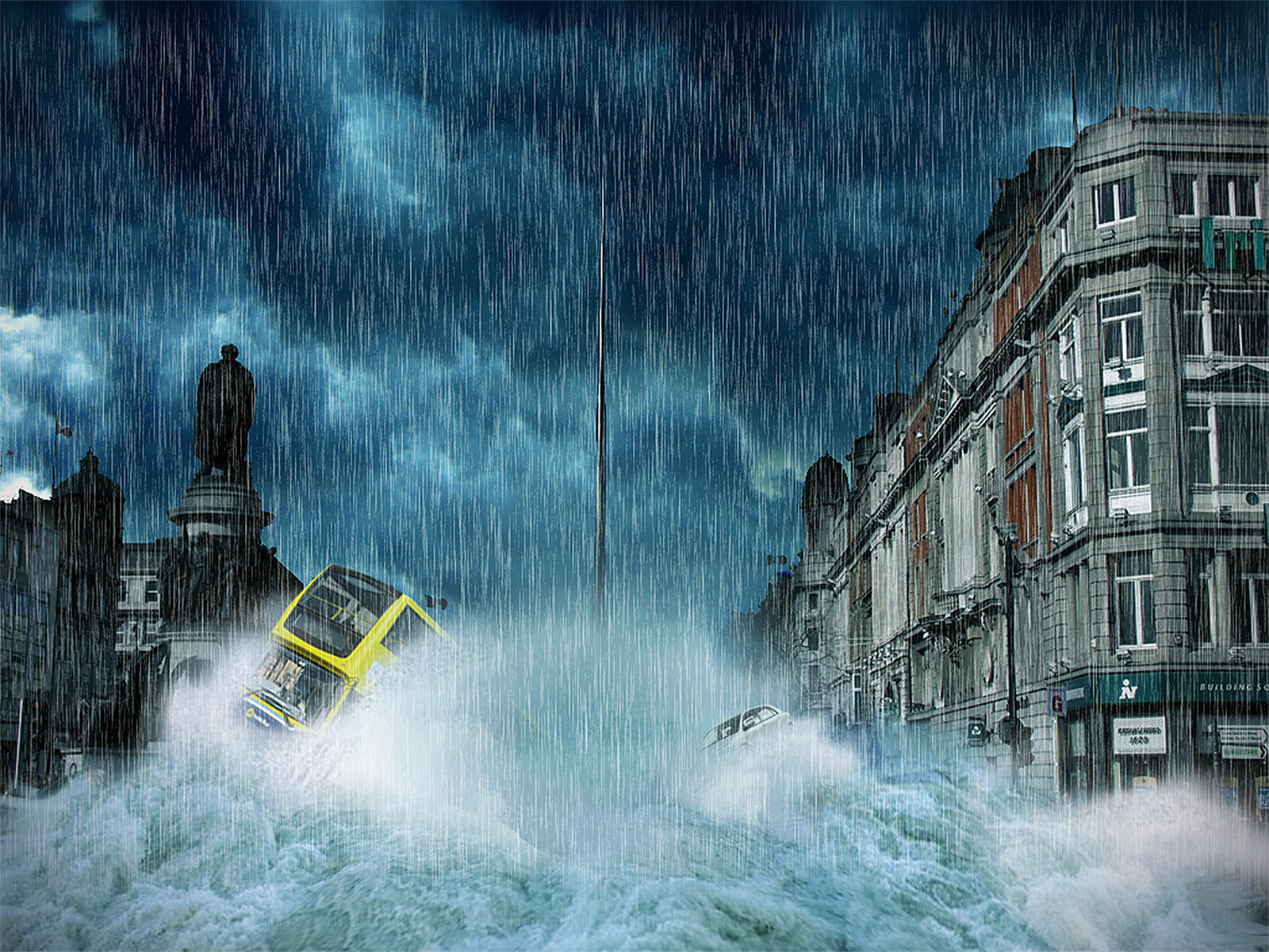 O' Connell Street Flood by Aoife Hester | Irish Times Photographer of the year Picturk Pic