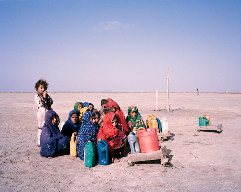 Children journey across the desert for water